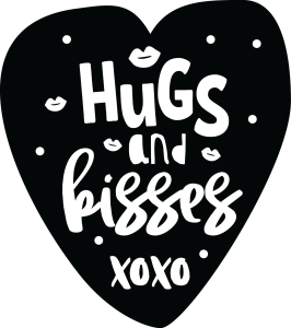Hugs and Kisses - Black